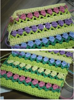 free spring flower pattern - springy crochet!
