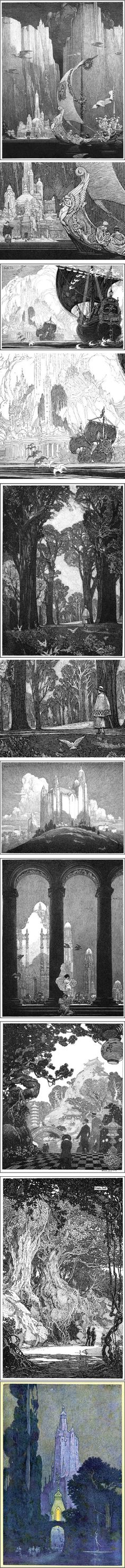 Franklin Booth pen and ink illustrations