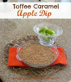 Toffee caramel apple dip.