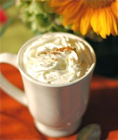 Hot spiced chai latte at home