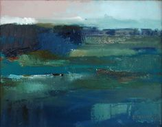 'Blue and Green Landscape' by Xanthippe Tsalimi