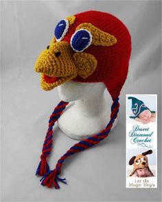Crochet Pattern 049  Kansas University Jayhawk  by desertdiamond, $5.95