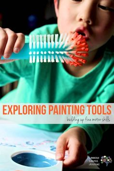 Fine Motor Activities Exploring Painting Tools via Lessons Learnt Journal (1)