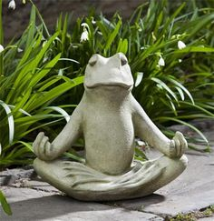 Totally Zen Frog Garden Statue - so cute!