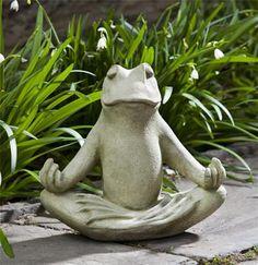 Totally Zen Frog Garden Statue