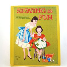 Vintage 1950s Childrens Book Singer Sewing by RebeccasVintageSalon, $16.00