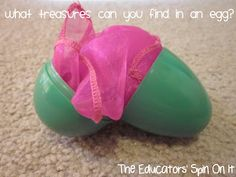 Building imagination and creating playful moments for babies and toddlers with ideas for what to fill their easter eggs and easter baskets with.