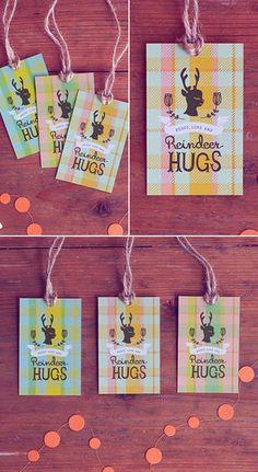 des tags pour vos cadeaux et créations de Noël...