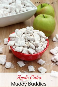 Apple Cider Muddy Buddies - Whats Cooking Love?