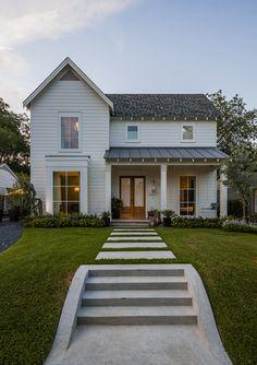 Maestri, LLC + Modern Farm House roof, modern farmhouse, window, dream homes, front doors, walkway, porch, farm houses, sidewalk
