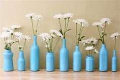 The Apple Crate: Painted Bottle Vases