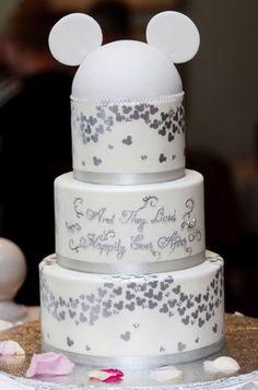 Mickey Ears Disney Wedding Cake