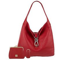 I have this in black and love it.Dooney  Bourke Leather Hobo with Logo Lock and Accessories