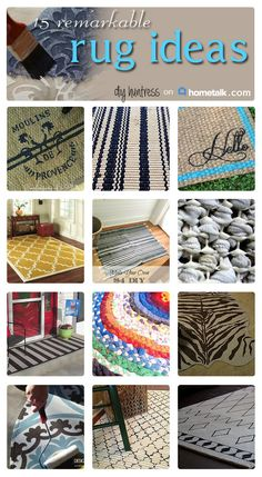 Super cool rugs to pull your room together!