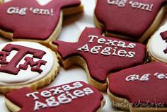 Some of the best Aggie Cookies I've ever seen!!