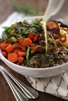 Warm Lentil Salad|Craving Something Healthy