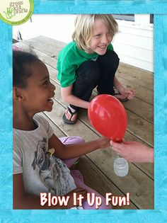 Experience the magic of baking soda and vinegar while blowing up balloons. http://www.greenkidcrafts.com/blow-up-it-fun/