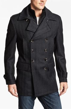7 Diamonds 'Glasgow' Trim Fit Double Breasted Coat available at #Nordstrom