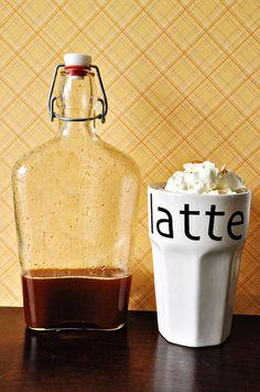 Pumpkin Spice Syrup and Latte