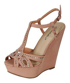 This Nude Ali Wedge Pump is perfect! #zulilyfinds