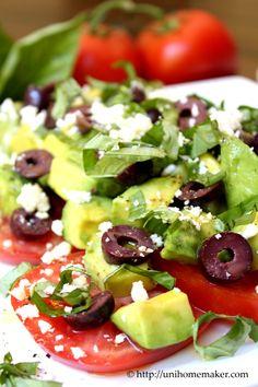Tomato and Avocado Salad | unihomemaker.com | #recipe #salads #tomato #avocado