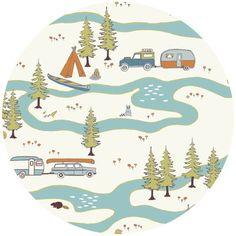 Jay-Cyn Designs for Birch Organic Fabrics, Camp Sur FLANNEL, Big Sur