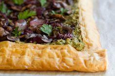 Mushroom Walnut Pesto Tart for Mushroom Masters Challenge — Oh She Glows