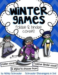 {FREEBIE} Winter Games folder/binder covers for students and teachers to keep their winter games and olympic unit materials organized!