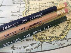 12 Road Trip Series Pencils Let's Explore by Earmark on Etsy