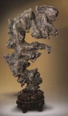 suiseki stones | Lingbi stone, natural stone, chinese scholars rock, bonsai stone