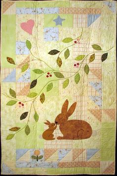 """""""Some Bunny Loves You"""", a baby quilt pattern by Gretchen Gibbons at Celebration of Life Designs"""