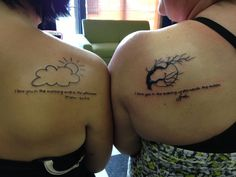 Mother daughter tattoo with our signatures.