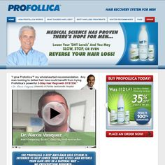"""Profollica™ is a standout product in the hair regrowth industry.  Because rather than simply """"cleaning"""" or """"purifying"""" the scalp, Profollica™ uses the very latest in medical scientific research to deal with the root cause of men's hair loss: excess DHT (dihydrotestosterone)!  DHT literally poisons the hair follicles on top of your head causing them to shrink... and then disappear!"""