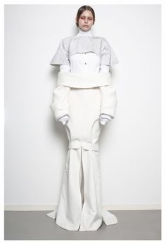 Experimental fashion with deconstructed design & sculptural silhouette; fashion as art // Patrik Guggenberger AW14