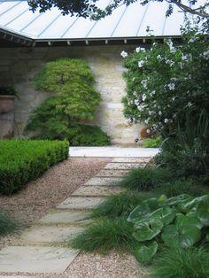 clean, modern garden