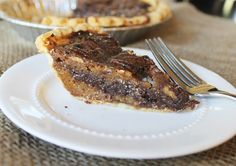 Chocolate Chip Pie! It's super easy, chocolaty, nutty, crunchy, and smooth! Oh and so scrumptious!