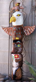 Totem Pole Milk Jug Craft  from www.daniellesplace.com