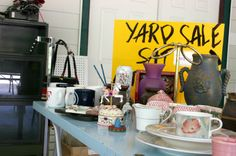 "The part about ""WHEN"" to schedule your yard sale is especially insightful: April, May, June, and Sept. Not on a Holiday weekend, and right after the 1st and the 15th ~ How to Organize a Yard Sale"