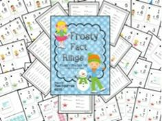 Frosty Fact Rings- Fluency Practice to 10 Very Printer Friendly!!!!