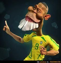 Caricatura de Ronaldo.