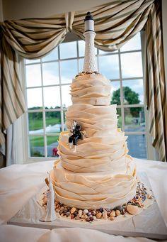 Lighthouse Nautical Wedding Cake..