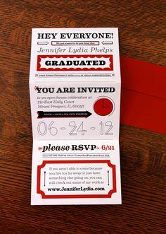 DIY invites for grad party