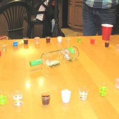Shot roulette! Spin the bottle and take what you get