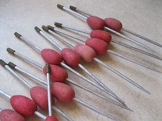 Antique wooden fishing bobbers