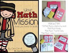 Math Missions top secret mission, math mission, grade parad