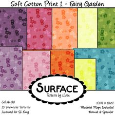 Surface - Soft Cotton Print 1 - Fairy Garden Contact | Flickr - Photo Sharing!