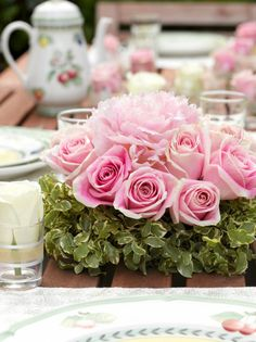 Pink rose tea party