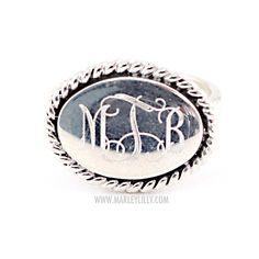 Monogrammed Ring Zara Sterling Silver