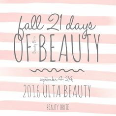 21 Days of Beauty Fa