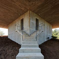 von ellrichshausen, houses, stair, casa pezo, ellrichshausen architect, pezo von, brutal architectur, brutalism architecture, solo hous